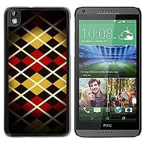 Caucho caso de Shell duro de la cubierta de accesorios de protección BY RAYDREAMMM - HTC DESIRE 816 - Pattern Design Fashion Stripes Style Art