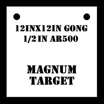 AR500 Gong Shooting Target 1pc Steel Target Set 8in Rifle Target 3//8 Thk