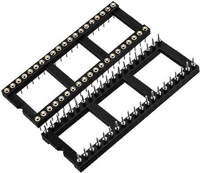 2x 0.1/'/' 14 Pin Socket//adaptor solder Universal ZIF Test DIP IC