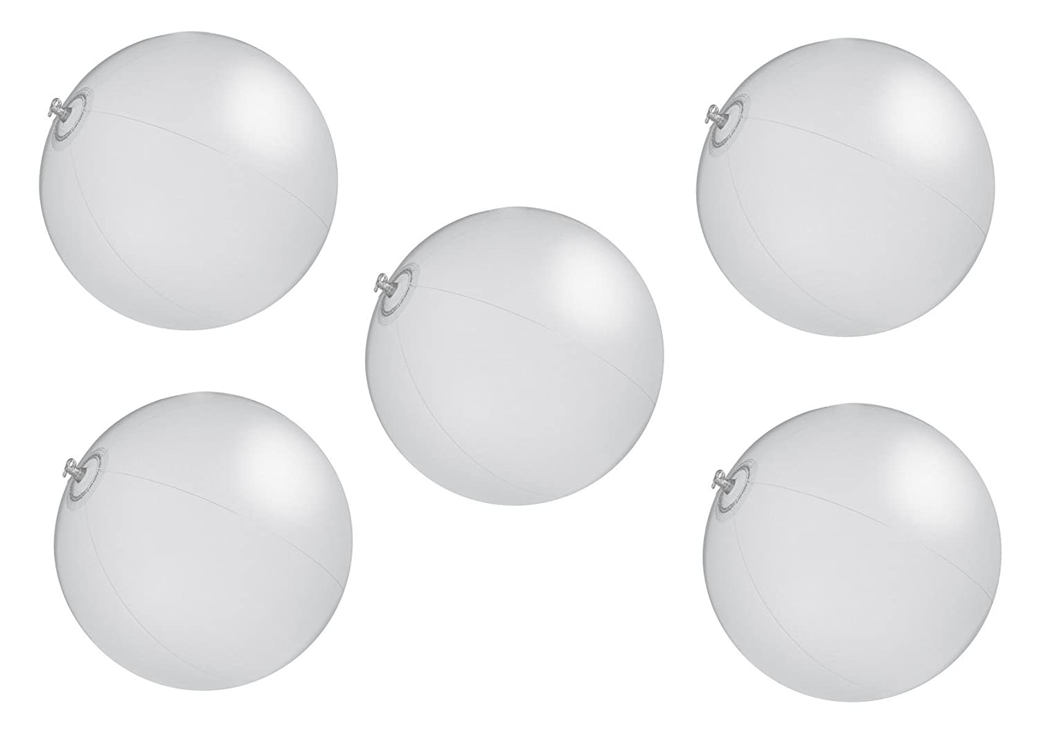 5 x playa pelota/agua/Color transparente color blanco: Amazon.es ...