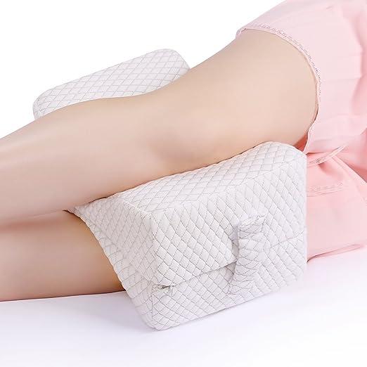 Nursal Espuma de memoria Almohada plegable de la rodilla de la pierna para el alivio de la ciática, el dolor de piernas, el embarazo y el sueño ...