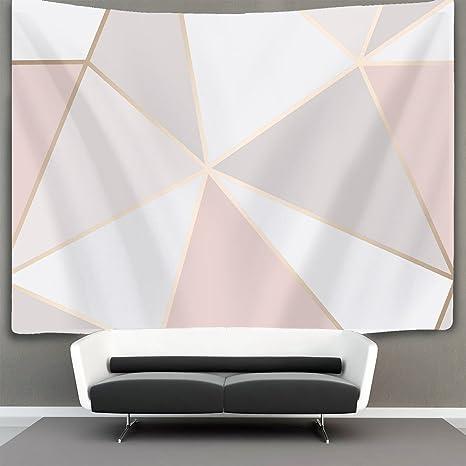 Amazon.com: homestores oro rosa geométrico patrón de espejo ...