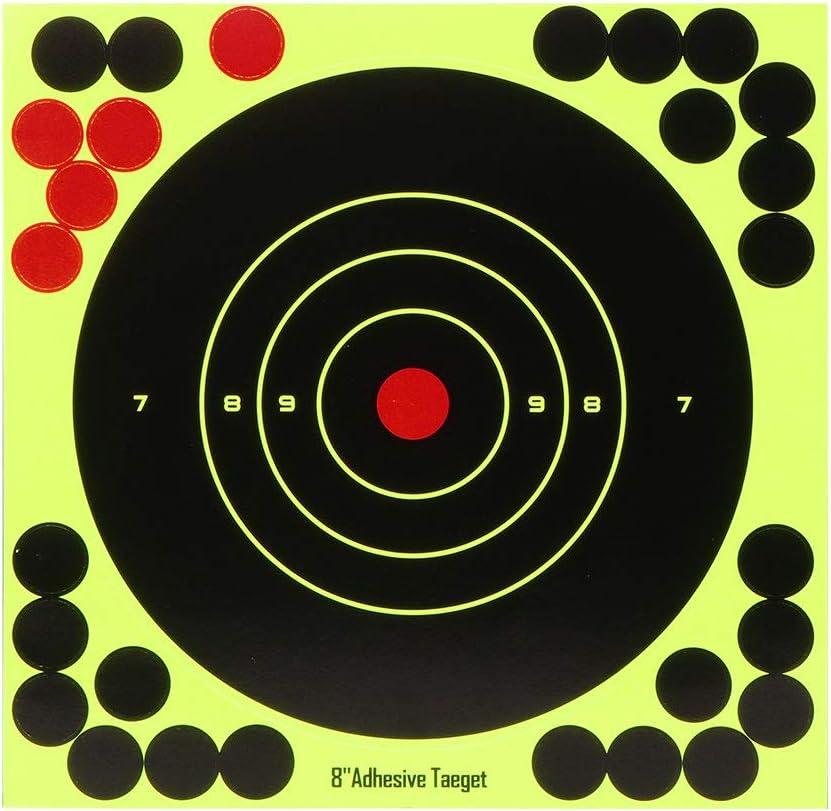 Verdelife 10 Piezas/Objetivos de Tiro con Arco, Objetivo Nerf de 8 Pulgadas, Objetivo para Pistola, Rifle, Pistola, Carpetas, Pistola de Juguete, Rifle de Aire, Balines
