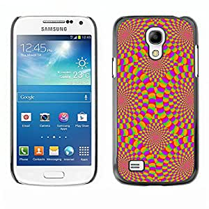 Paccase / SLIM PC / Aliminium Casa Carcasa Funda Case Cover para - Hypnotic Wallpaper Geometrical Art Design - Samsung Galaxy S4 Mini i9190 MINI VERSION!
