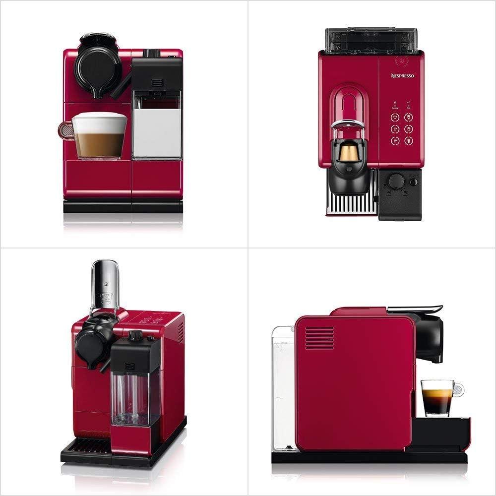 Nespresso F511Re Capsule Espresso Maker Machine Lattissima Touch Red 100 NEW