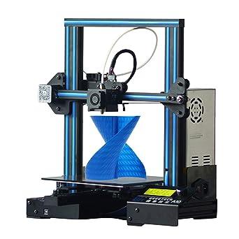 Hiveseen Impresora 3D de aluminio montaje rápido con un volumen de impression y recuperación de la falla de energía (A10) (i3 ProW) (I3 A10) 220 × 220 ...