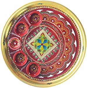 DEVIKA Shubh Labh Pooja THALI for Festive and Gifting. for Ganpati Navratri, Dashera Diwali! (PT RR11, BIG11)