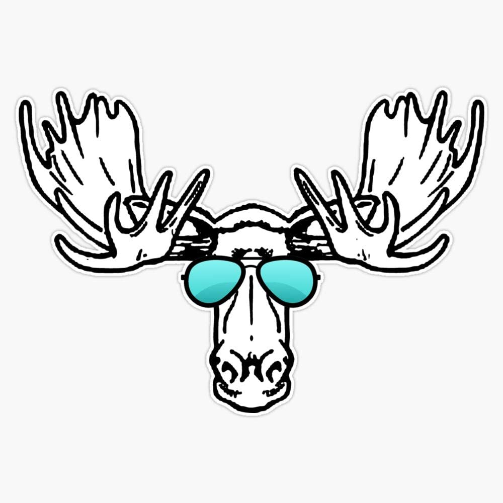 Leyland Designs Too Cool for School Moose Sticker Outdoor Rated Vinyl Sticker Decal for Windows, Bumpers, Laptops or Crafts 5