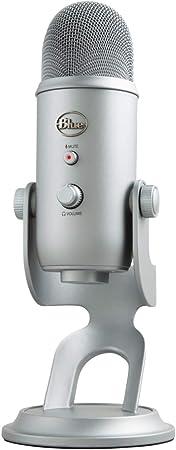 Blue Microphones Yeti Usb Mikrofon Für Aufnahme Und Streaming Auf Pc Und Mac Verstellbares Stativ Plug Und Play Kühlgrau Musikinstrumente