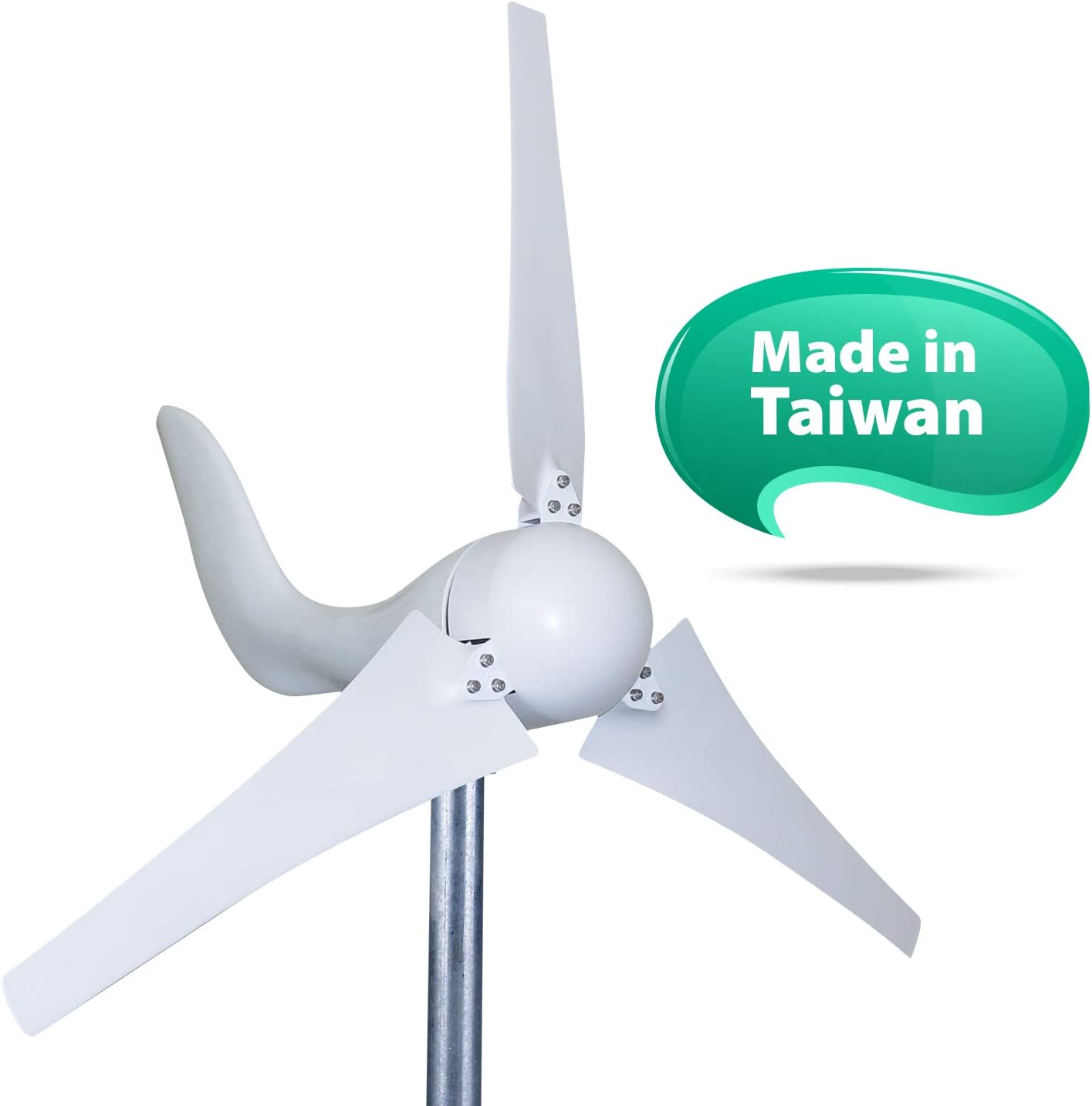 24V 600W Wind Turbo Generator Wind Turbine 5 Blade Low Wind Speed Starting Wind Turbines with Charge Controller for Wind Solar Hybrid System for Home//Camping