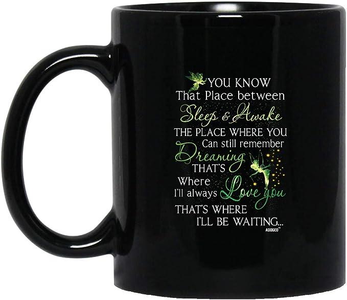 Amazon.com | Tinker Bell HA-N-Dmade Coffee Tea Mug - Unique Gifting ideas (Mug 11oz; Black; 11oz) coffee mug: Coffee Cups & Mugs