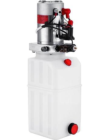 Guellin Bomba Hidráulica de Acción Simple 12V Bomba Hidráulica con Tanque de Combustible Plástico Hydraulic Pump