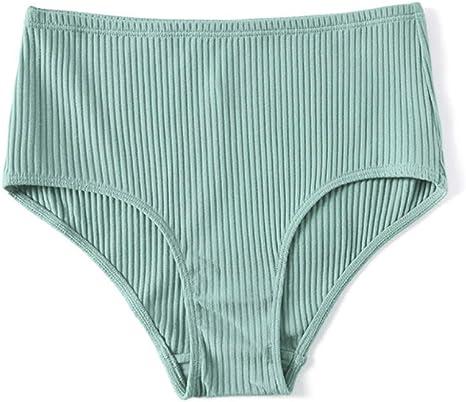 LYJLYJ Ropa Interior de Mujer Ropa Interior de Mujer de algodón de Corte Alto Estilo Europeo Hipster más lencería de tamaño Bragas de Cintura Alta Calzoncillos sin Costuras: Amazon.es: Deportes y aire