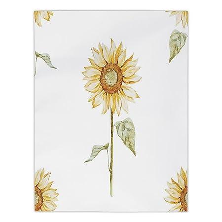 Polyester Rectangular Tableclothsunflower Decorsunflowers In