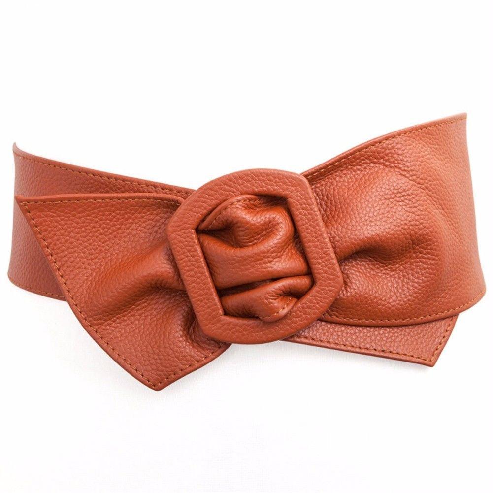 NSSBZZ Birthday gifts Female. Fashion. It's wide. Waist. Yes. Belt。 Cowhide。 The waist. Dress。 Overcoat。 Down Jackets。 Decoration. Belt,brown