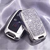 5 Buttons 3D Bling keyless Entry Remote Smart Key Fob case Cover for Land Rover Defender Discovery Sport LR2 LR3 LR4 Range Rover Sport EVOQUE and Jaguar XF XJ XJL XE F-PACE