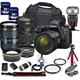 Canon EOS 6D Mark II DSLR Camera Bundle Canon EF 24-105mm f/4L is II USM Lens + Tamron 70-300mm f/4-5.6 Telephoto Lens + 2pc PROSPEED 16GB Memory Cards + Premium Accessory Bundle Kit (18 Items)