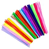 #9: Bememo 200 Pieces Pipe Cleaners Chenille Stems 6 mm x 12 Inch for Diy Art Craft, Assorted Colors