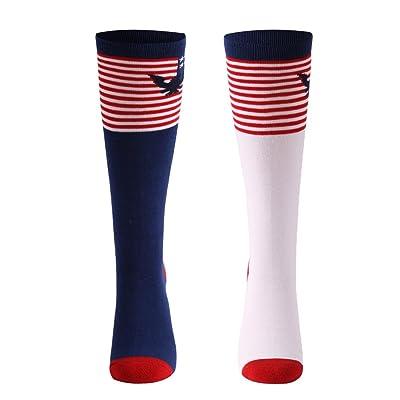 9abfbfe64 Crazy Funny Socks, Gmall Women's Novelty Funky American Flag/Lace/Bone Knee  High