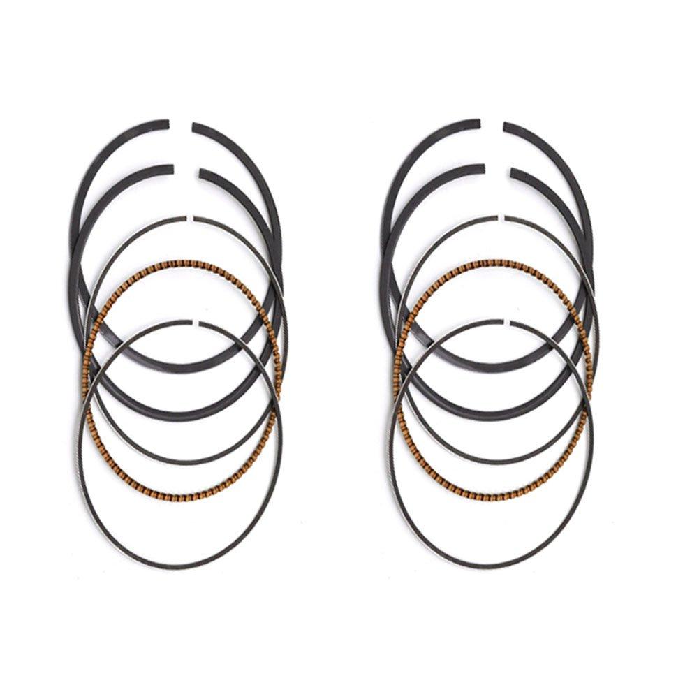 AHL 2 Sets STD 62mm Piston Rings for Kawasaki ZZR250 EX250 GPZ250 GPX250 KLE250
