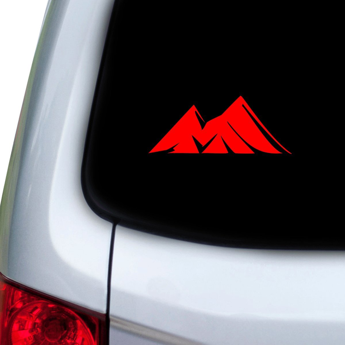 Doors StickAny Car and Auto Decal Series Mountains 9 Sticker for Windows Red Hoods