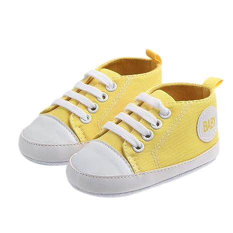 LAAT Zapatos Bebé Zapatos de Lona para Niños Regalo para Bebé con Cordones de los Zapatos