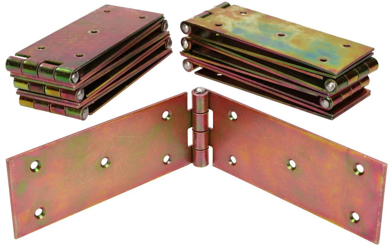 KOTARBAU Kistenband 250 x 50 mm 10 St Scharnier Gerollte Tischband M/öbelscharnier Verzinkt Gold Torband M/öbelband T/ürscharnier 2 Fl/ügel Top-Qualit/ät