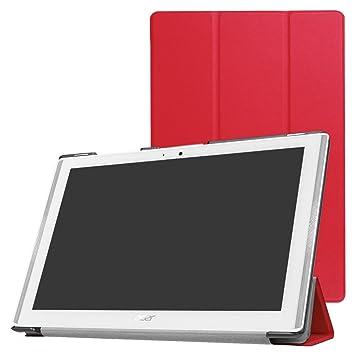 Acer Iconia One 10 B3-A40 Slim Shell Funda,Mama Mouth Ultra Slim Ligera PU Cuero Con Soporte Funda Caso Case para 10.1