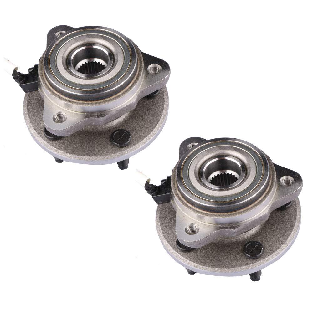 MOSTPLUS Wheel Bearing Hub Front Wheel Hub and Bearing Assembly for Ascender, Bravada, Envoy, Rainer, Trailblazer With ABS 6 Lug 513188X2 (Set of 2)