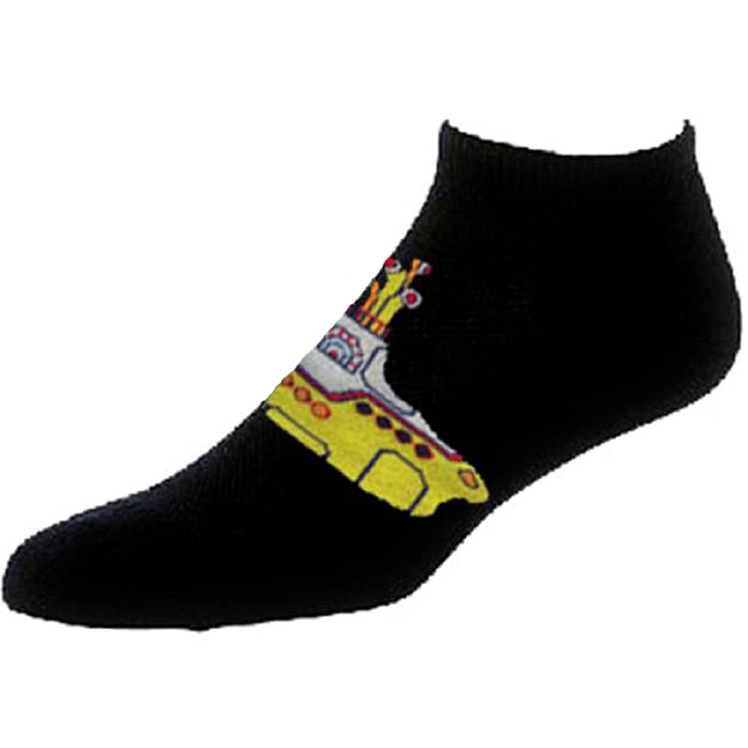 The Beatles Yellow Submarine Official Womens New Black Ankle Socks (UK Size 4-7)
