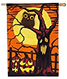 Evergreen Haunted Night Burlap House Flag, 28 x 44 inches Review