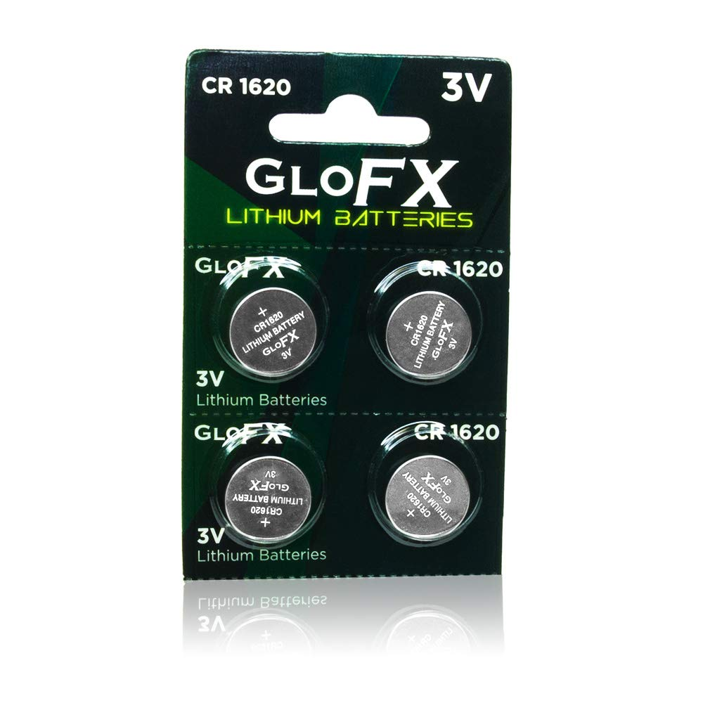 GloFX CR 1620 3v Batteries - 2 Pack - Button Coin Lithium Watch Battery Key fob