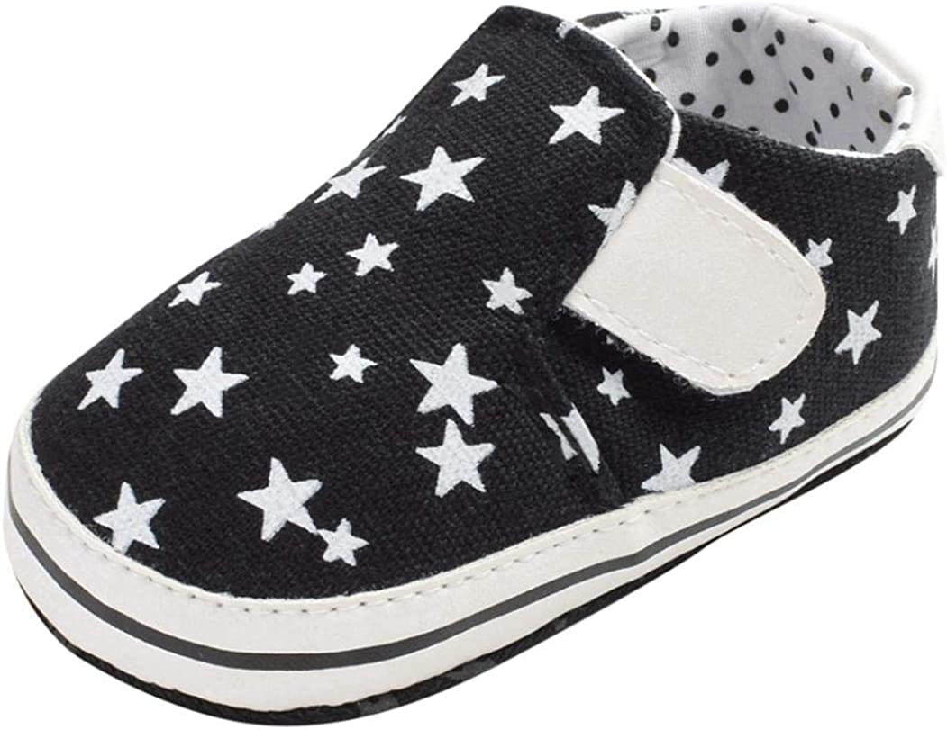 Baby Canvas Sneakers, Star Print Soft