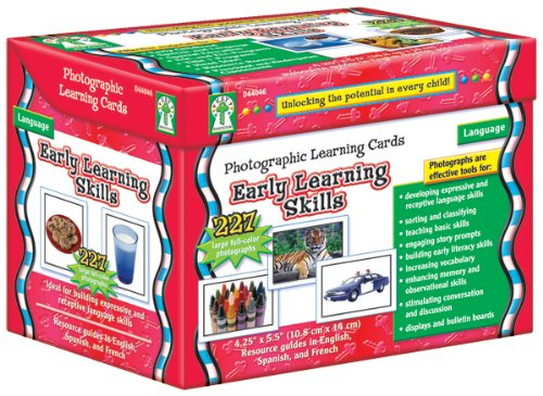 Carson Dellosa Early Learning Skills/Learning Cards (D44046) Photographic Learning