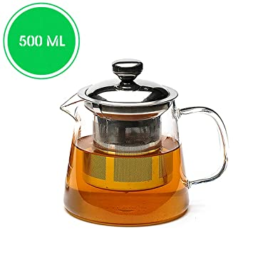 17e15a4252 Buy Teabox Urban Glass Teapot with Removable Stainless Steel Infuser and  Lid for Loose Leaf Tea 500 ml Online at Low Prices in India - Amazon.in