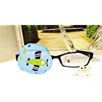 Pure Cotton Reusable Eye Patch Cartoon Amblyopia Eye Patches For Glasses Treat Lazy Eye and Strabismus For Kids Children,Vision Care Eye Mask (Left Eye)