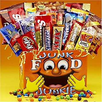 England, London, Supermarket Display of Junk food Snacks Stock ...