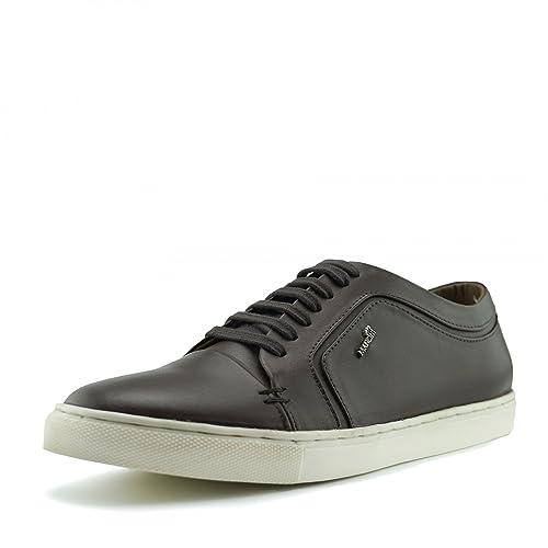 Mens Casual de Cuero Premium de Encaje hasta Zapatillas de Deporte de los Zapatos: Amazon.es: Zapatos y complementos