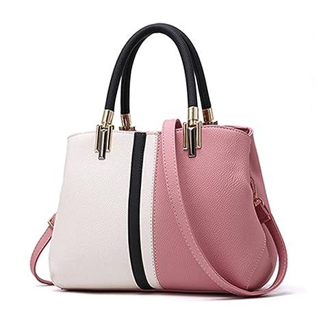 2dbee1512381 Amazon.com: UOXMDNJC Women Handbag Female Patchwork Zipper Casual ...