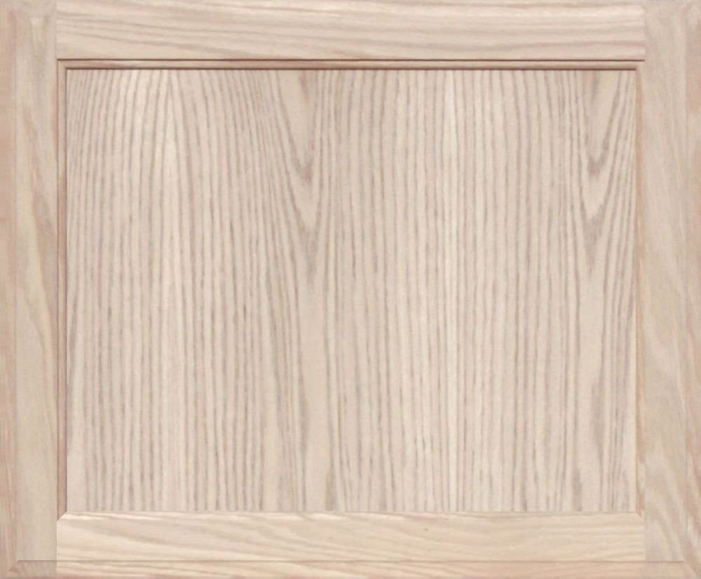 Unfinished Oak Square Flat Panel Cabinet Door by Kendor, 19H x 23W
