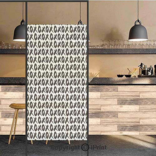 3D Decorative Privacy Window Films,Expressing Love Affection Good Friendship Text Message Modern Communication Theme Decorative,No-Glue Self Static Cling Glass film for Home Bedroom Bathroom Kitchen O (Best Text Message Pranks)