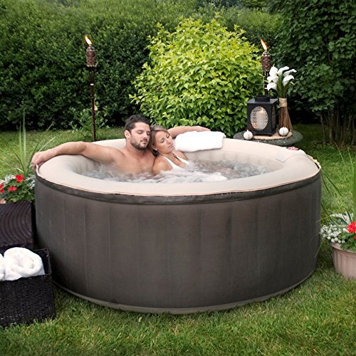 Esse Sales Therapurespa EST5868 4-Person Inflatable Portable Hot Tub with Storage Bag