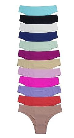 fa3796d5f5ae Viola's Secret Wholesale 12 pack of Women seamless lasercut panties bikini  (S, C143)