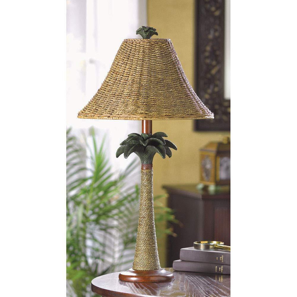 ROX Luxury House Rattan Palm Tree Table Lamp