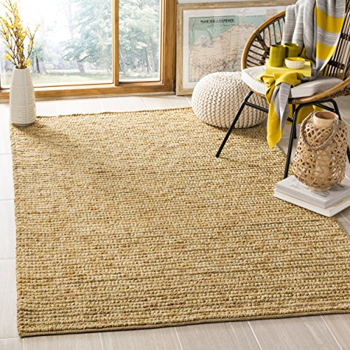 Gold Rectangular Rug - Safavieh Bohemian Collection BOH525D Hand-Knotted Gold and Multi Jute Area Rug (3' x 5')