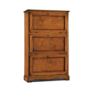 InHouse srls Scarpiera 3 ante, arte povera, in legno massello e mdf ...