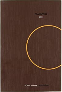 "AT-A-GLANCE 2020 Daily Planning Notebook, Plan.Write.Remember, 6"" x 9"", Medium, Brown (70620130)"