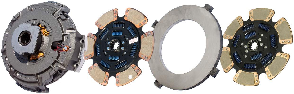 IATCO 107935-97-IAT 15-1/2'' x 2'' Angle Spring Clutch (Two-Plate, 6-Paddle / 9-Spring, 3600 Plate Load / 1700 Torque, Dual-Zerk, MACK) by IATCO