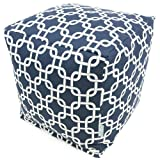 Majestic Home Goods Navy Blue Links Cube, Small Review