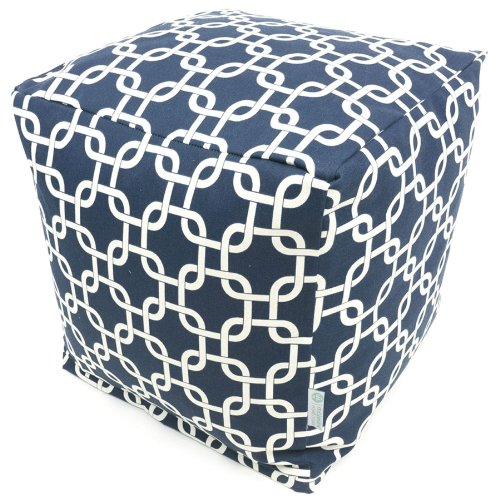 Majestic Home Goods Navy Blue Links Cube, Small ()